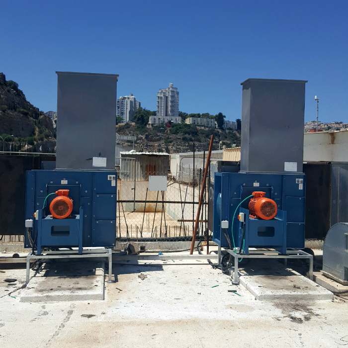 Installation of blowers for central Extraction systems