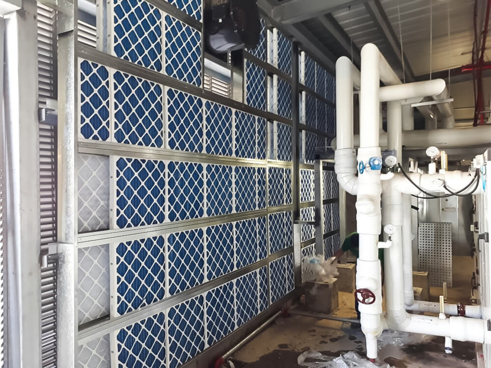 Production planning and installation of a filter wall