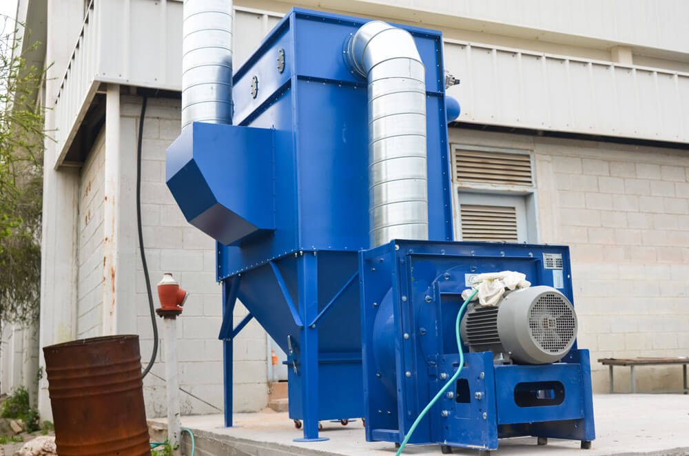 Industrial dust filtration system