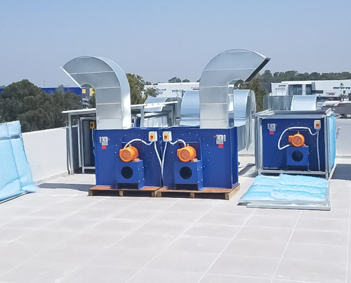 Blowers for paint rooms